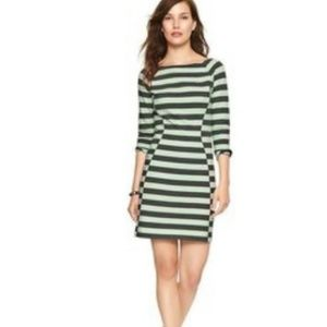 GAP Mint Green & Gray Striped Boatneck Dress NWT